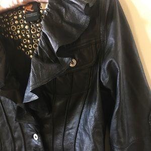 Parasuco Jackets & Coats - Black leather bling bling  jacket